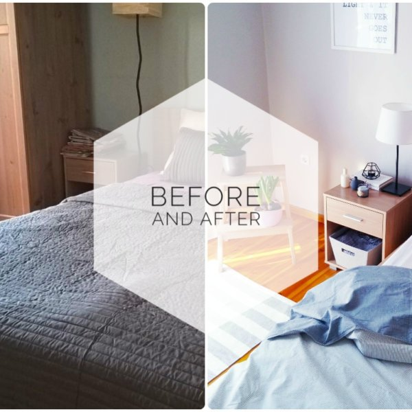 Chrysa bedroom before and after
