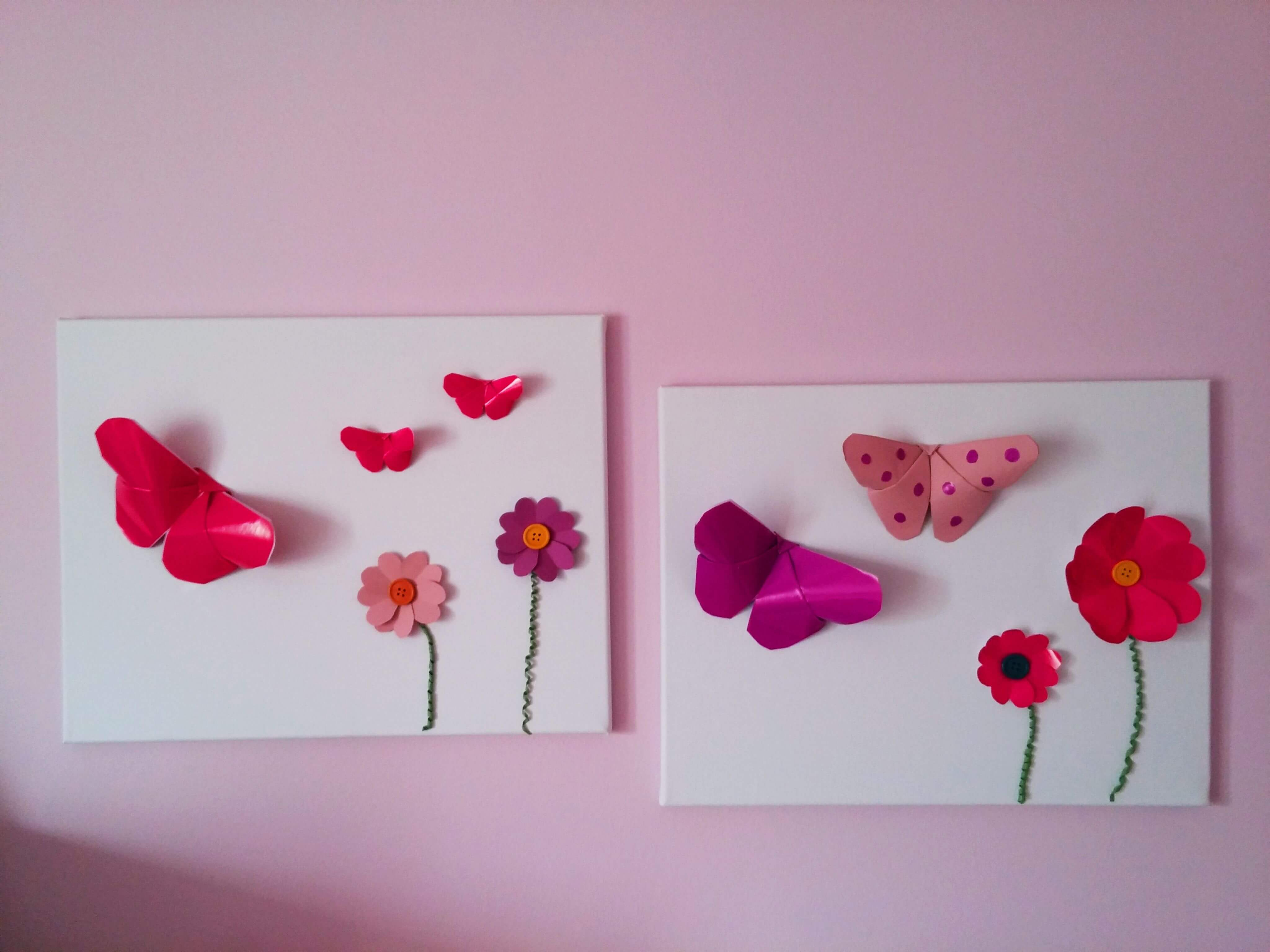 DIY Wall Art for girls bedrooms - DIY Κάδρα για κοριτσίστικα δωμάτια