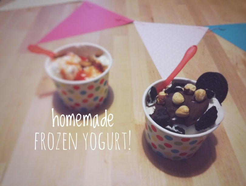 Homemade frozen yogurt
