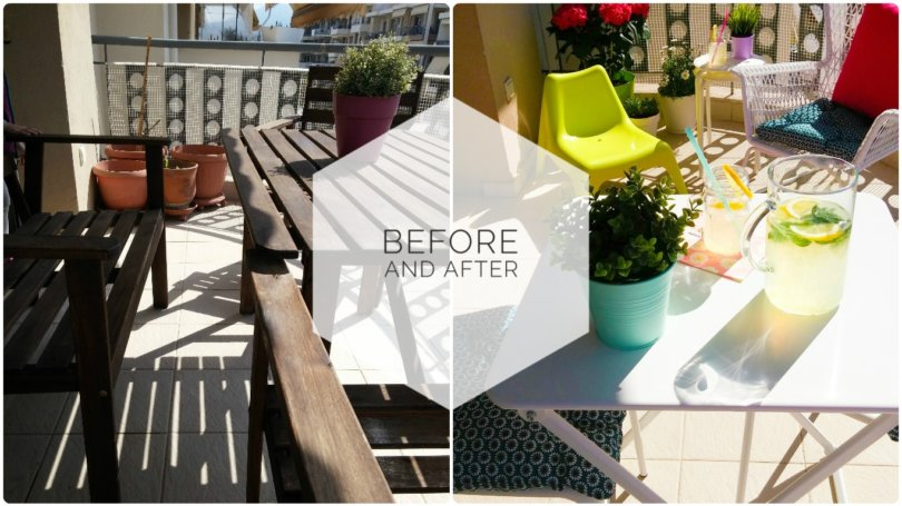 Balcony Before and After - Μπαλκόνι Πριν και Μετά