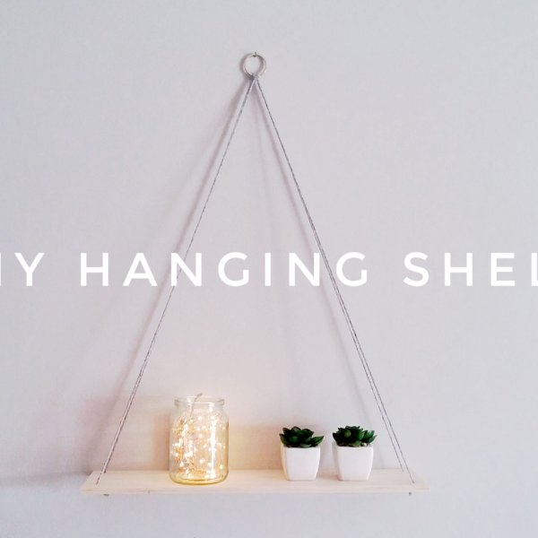 DIY Hanging Shelf