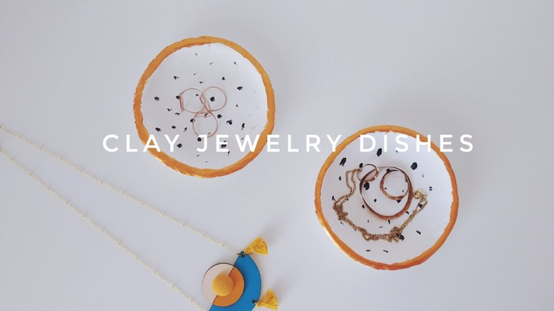 1- DIY πιατάκια από πηλό - Clay jewelry dishes - VioletMimosa