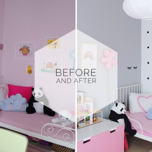 1- Before and after - Παιδικό δωμάτιο - VioletMimosa